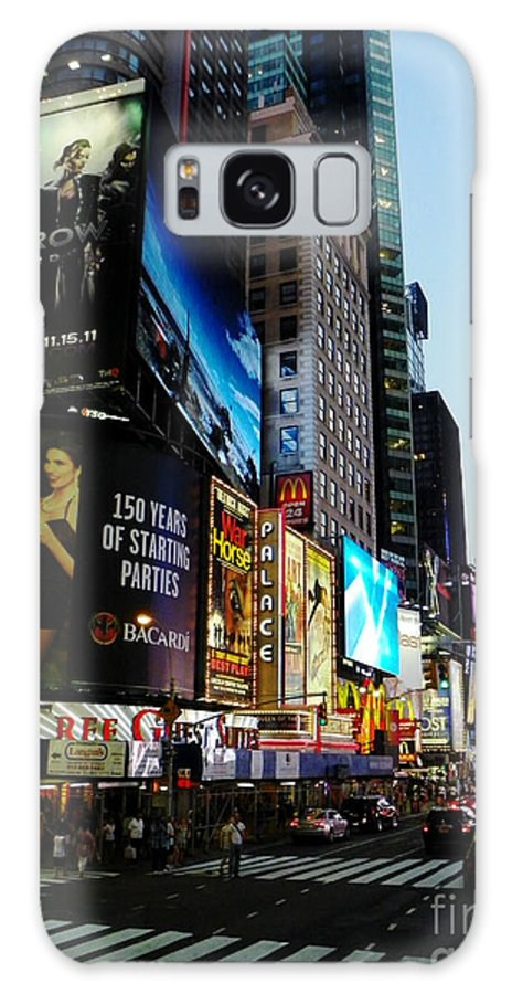 Galaxy S8 Case featuring the photograph Time Square 2 by Christopher Schlagheck