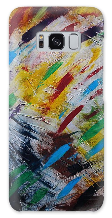 Abstract Galaxy Case featuring the painting Time stands still by Sergey Bezhinets