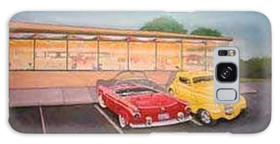 Rick Huotari Galaxy Case featuring the painting Times Past Diner by Rick Huotari
