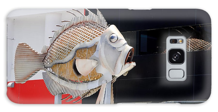 Fish Galaxy S8 Case featuring the photograph Tin Fish by Bob VonDrachek