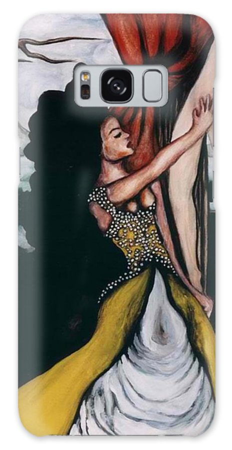 To Have And To Hold Galaxy S8 Case featuring the painting To Have And To Hold  Mourning The Loss Of A Lover by Ayka Yasis