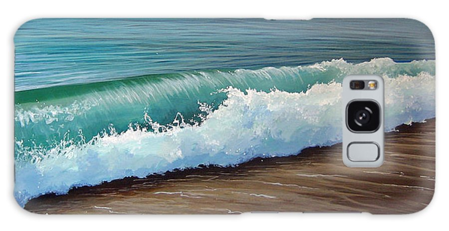 Wave On A Florida Beach Galaxy Case featuring the painting To The Shore by Hunter Jay
