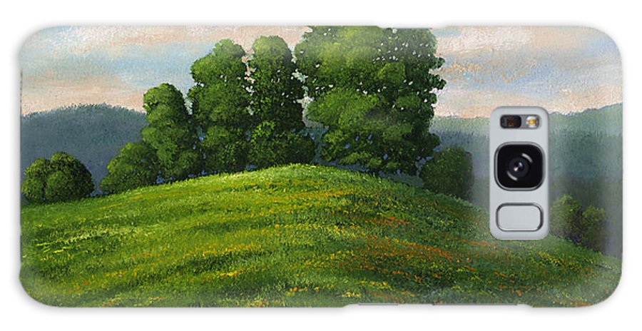 Landscape Galaxy Case featuring the painting Toboggan Hill by Frank Wilson