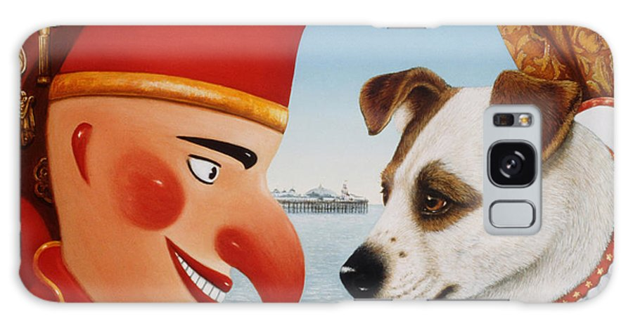 Dog Galaxy S8 Case featuring the photograph Toby And Punch, 1994 Oils And Tempera On Panel by Frances Broomfield