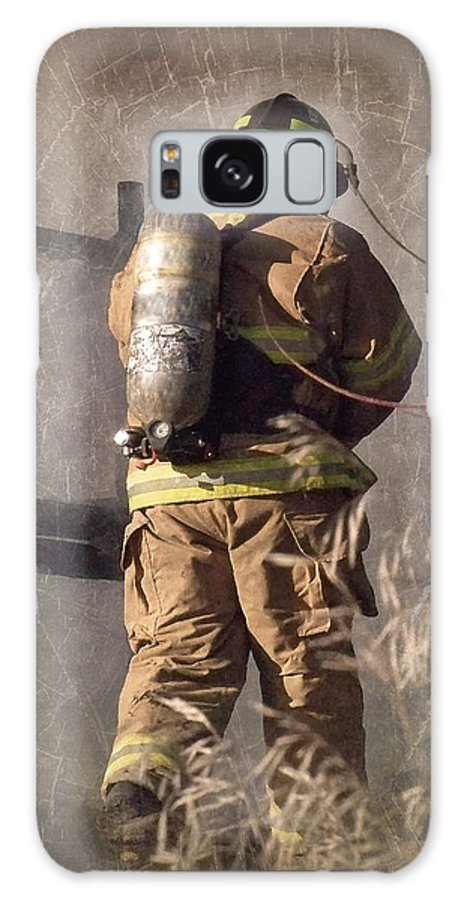 Firefighter Galaxy S8 Case featuring the photograph Today He Will Fight by Melissa Smith