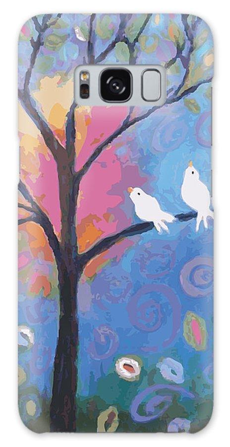 Birds Galaxy S8 Case featuring the digital art Today Is A Gift by Karen Fields