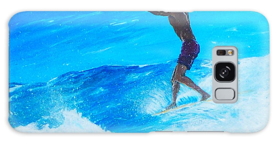 Surfing Galaxy S8 Case featuring the painting Toes To The Nose by Kevin Lancaster