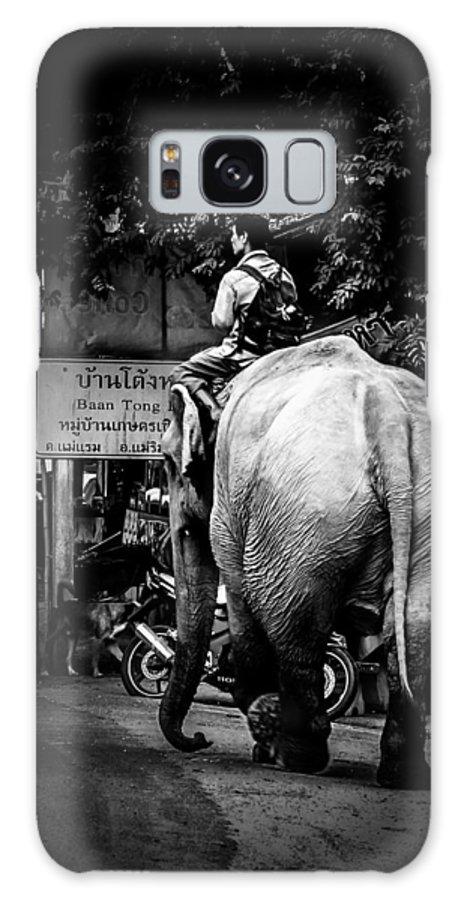 Elephant Galaxy S8 Case featuring the digital art Together..on..street... by Rak Sararak