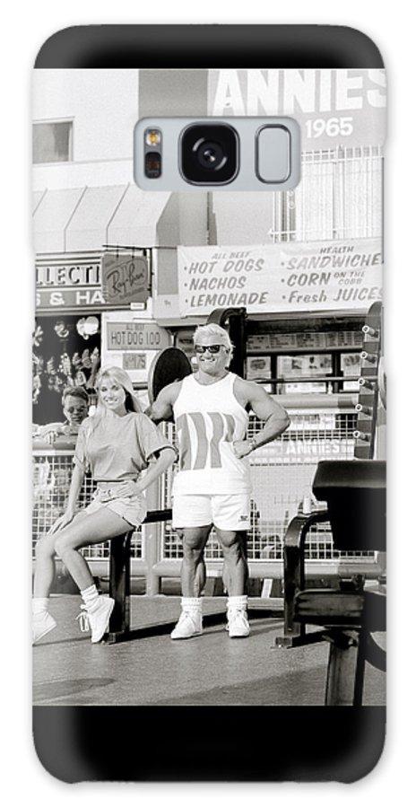 Masculinity Galaxy S8 Case featuring the photograph Tom Platz At Venice Beach by Shaun Higson