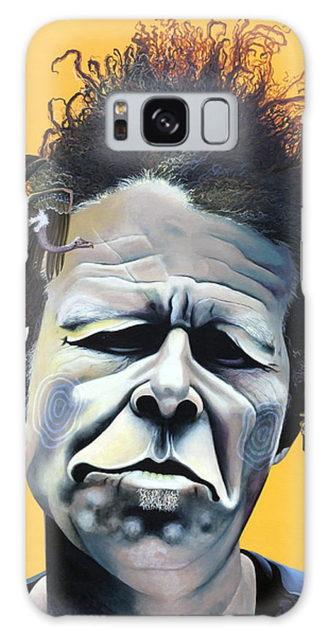 Kellyjadeart Galaxy S8 Case featuring the painting Tom Waits - He's Big In Japan by Kelly Jade King