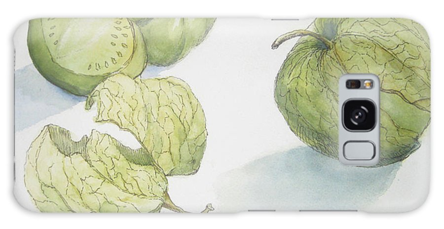 Pen And Ink Drawing Galaxy S8 Case featuring the painting Tomatillos by Maria Hunt