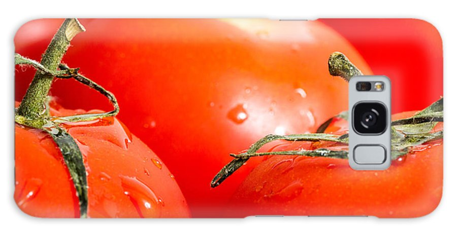 Tomato Galaxy S8 Case featuring the photograph Tomatoes. by Gary Gillette