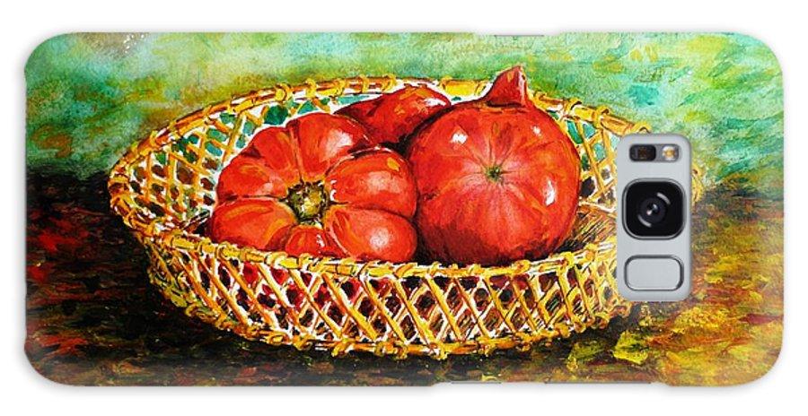 Tomatoes Galaxy S8 Case featuring the painting Tomatoes by Zaira Dzhaubaeva