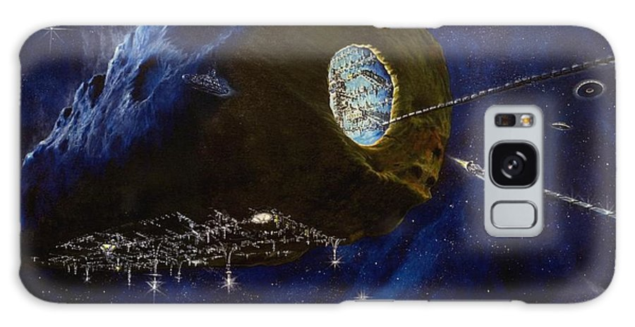 Oil Galaxy Case featuring the painting Tomorrow by Murphy Elliott