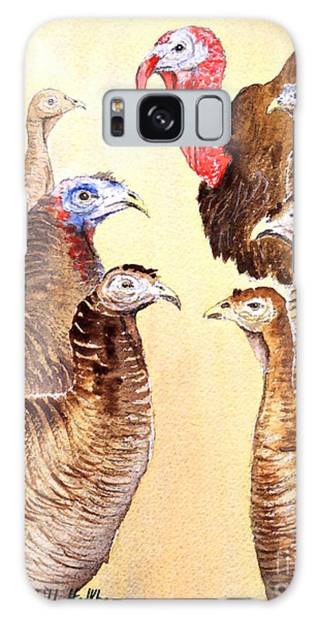 Wild Turkeys Galaxy S8 Case featuring the painting Tom's Parade by Bill Holkham