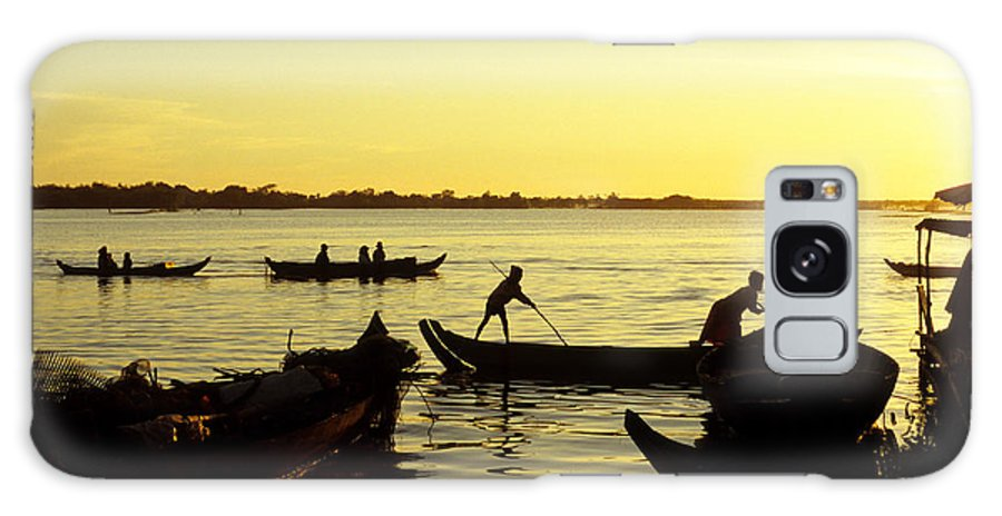 Cambodia Galaxy S8 Case featuring the photograph Tonle Sap Sunrise 05 by Rick Piper Photography