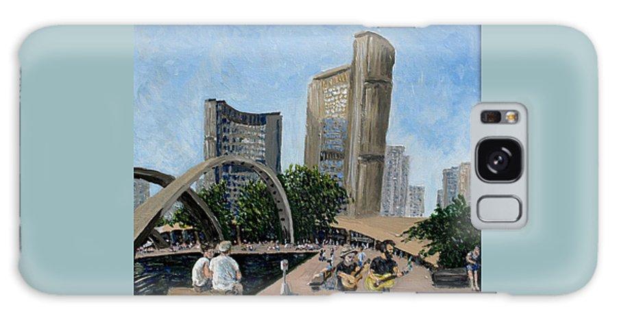 Toronto Galaxy Case featuring the painting Toronto City Hall by Ian MacDonald