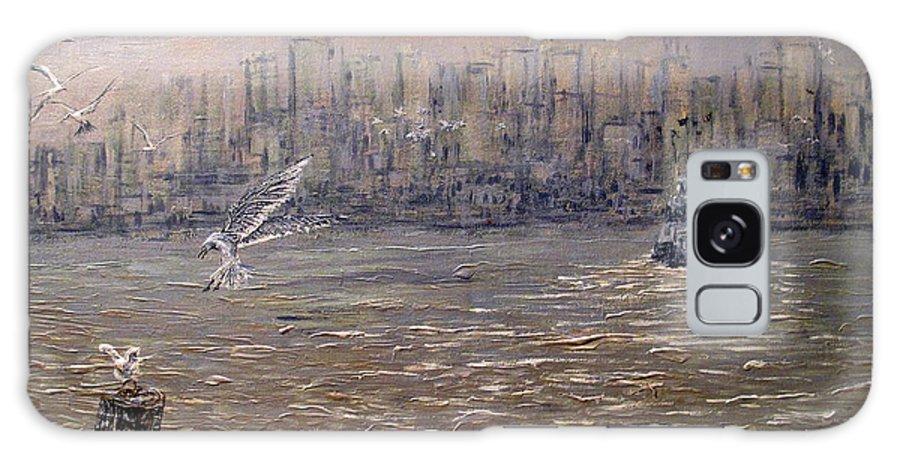 Toronto Galaxy S8 Case featuring the painting Toronto Harbor Morning by Ian MacDonald
