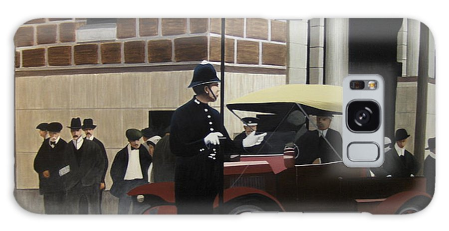 Streetscapes Galaxy S8 Case featuring the painting Toronto Traffic Cop 1912 by Kenneth M Kirsch