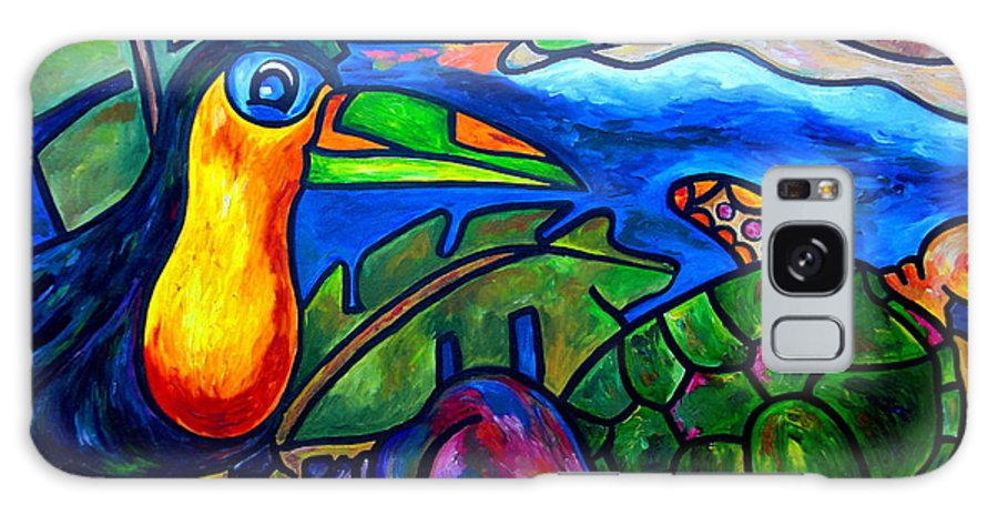 Toucan Galaxy S8 Case featuring the painting Tortuga Eco Tour by Patti Schermerhorn
