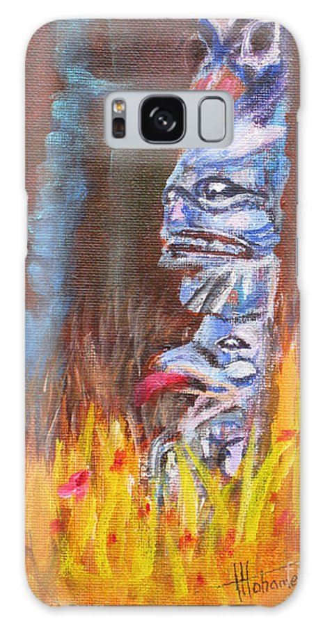Aboriginal Galaxy S8 Case featuring the painting Totems Of Haida Gwaii by Mohamed Hirji