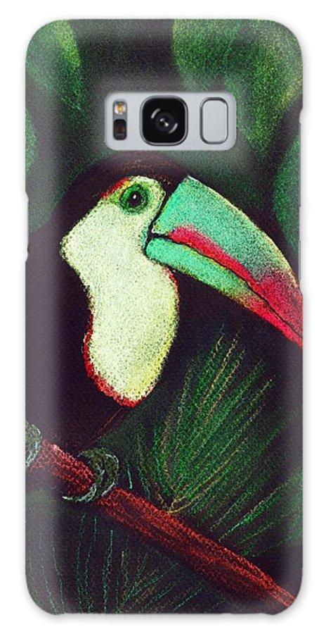 Malakhova Galaxy S8 Case featuring the painting Toucan by Anastasiya Malakhova