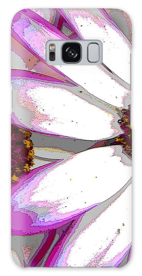 Pink Galaxy S8 Case featuring the photograph Touch Of Pink Osteospermum Trio B by Nicki Bennett