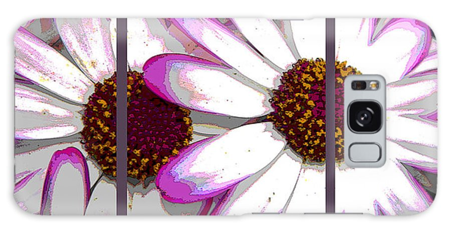 Pink Galaxy S8 Case featuring the photograph Touch Of Pink Osteospermum Trio Sample by Nicki Bennett