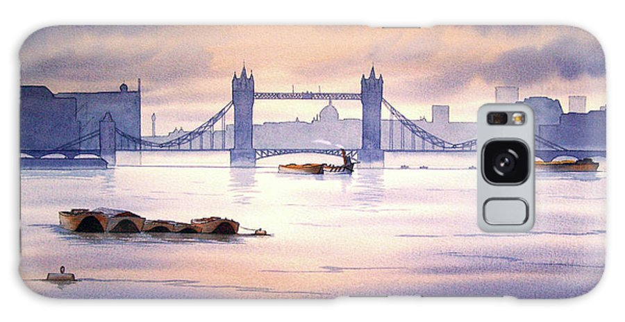 Tower Bridge Galaxy S8 Case featuring the painting Tower Bridge London by Bill Holkham