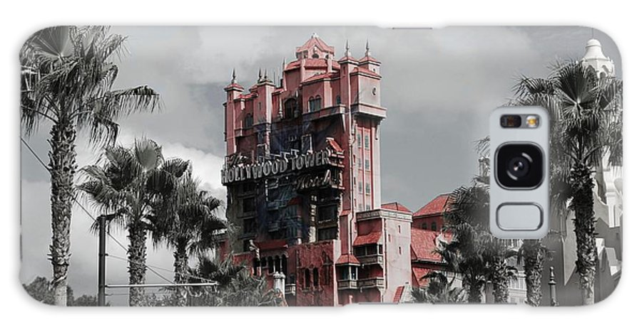Architecture Galaxy S8 Case featuring the mixed media Tower Of Terror In Color by Eric Liller