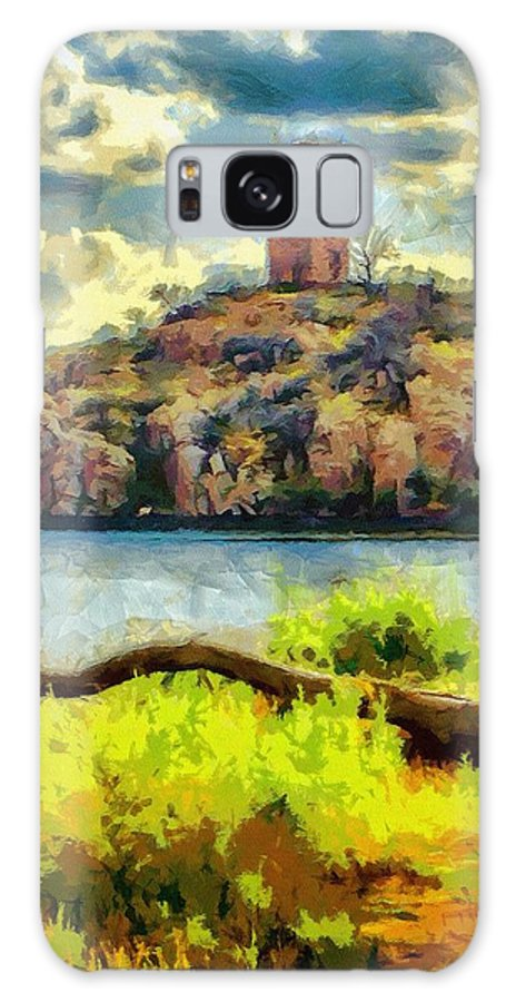 Jeb Johnson Galaxy S8 Case featuring the painting Tower On The Bluff by Jeffrey Kolker