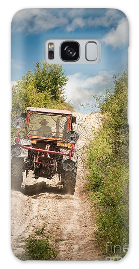 Agriculture Galaxy S8 Case featuring the photograph Tractor by Gabriela Insuratelu