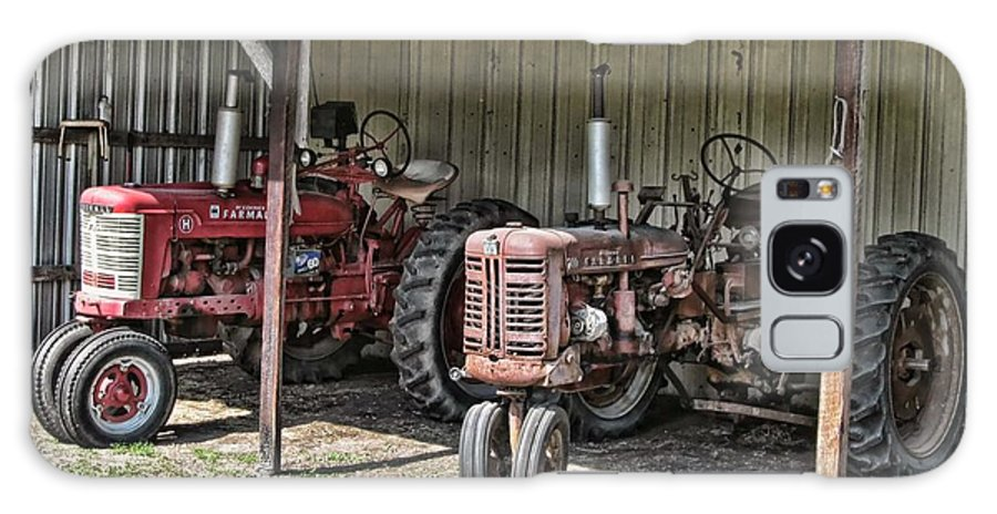 Victor Montgomery Galaxy S8 Case featuring the photograph Tractors In The Shed by Victor Montgomery