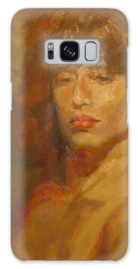 Portrait Galaxy S8 Case featuring the painting Tracy by Irena Jablonski