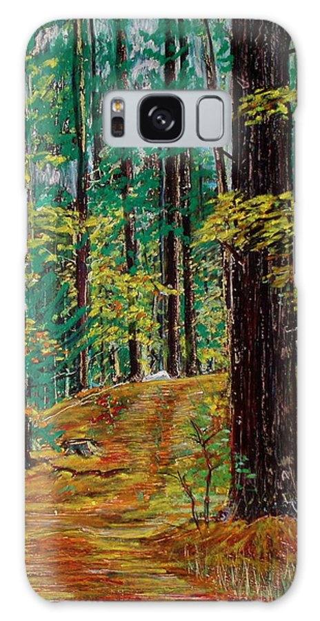 New Hampshire Galaxy Case featuring the pastel Trail At Wason Pond by Sean Connolly