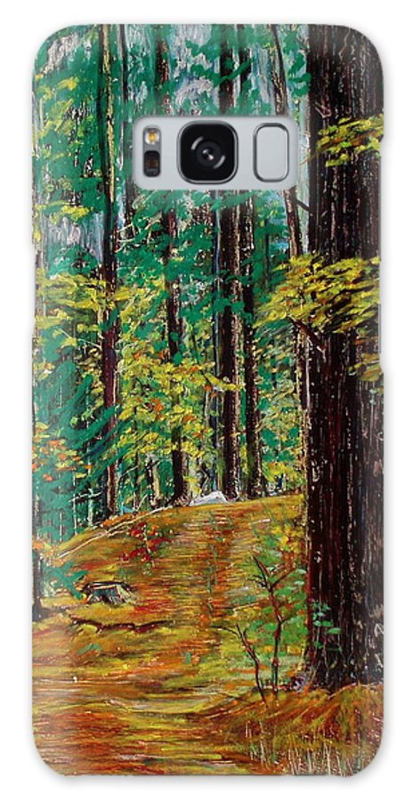 New Hampshire Galaxy S8 Case featuring the pastel Trail At Wason Pond by Sean Connolly