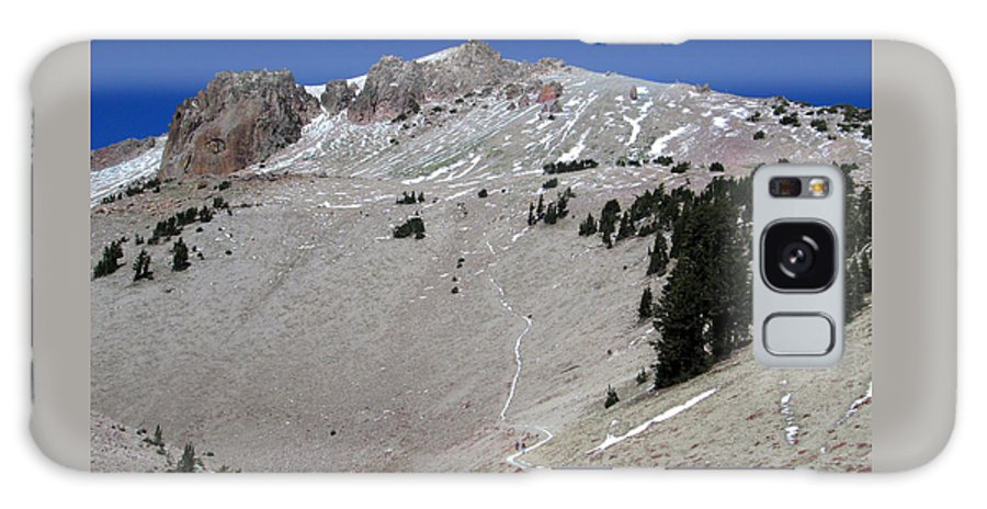 Photograph Galaxy S8 Case featuring the digital art Trail To Lassen Peak by Kathy Moll