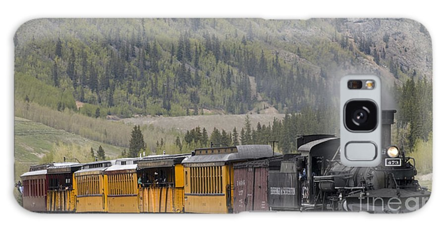 Cumbres & Toltec Galaxy S8 Case featuring the photograph Train Arriving In Silverton by Tim Mulina