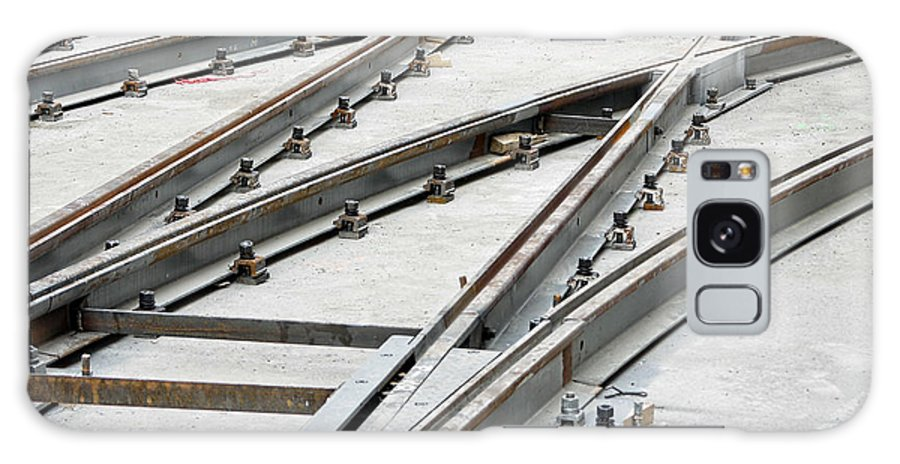 Assembly Galaxy S8 Case featuring the photograph Tramway Track Construction by Roman Milert