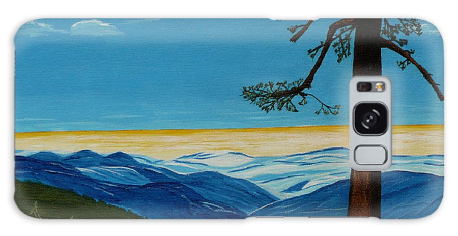 Mountain Galaxy S8 Case featuring the painting Tranquil Solitude by Anthony Dunphy