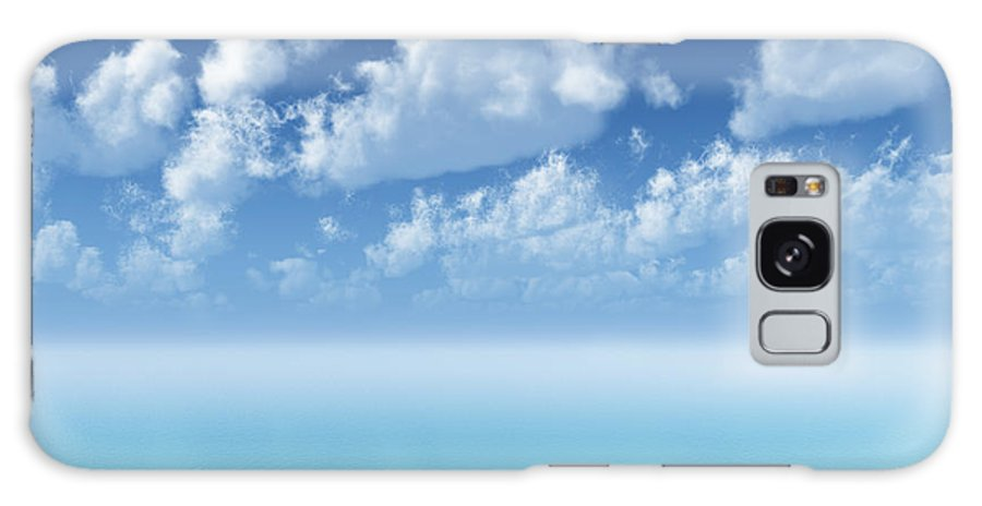 Clouds Galaxy S8 Case featuring the digital art Tranquil Turquoise Ocean by Aleksey Tugolukov