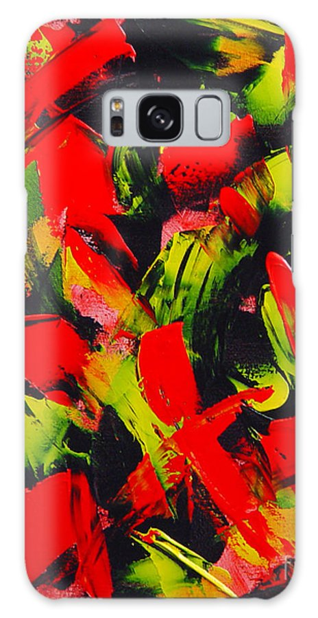 Abstract Galaxy S8 Case featuring the painting Transitions IIi by Dean Triolo