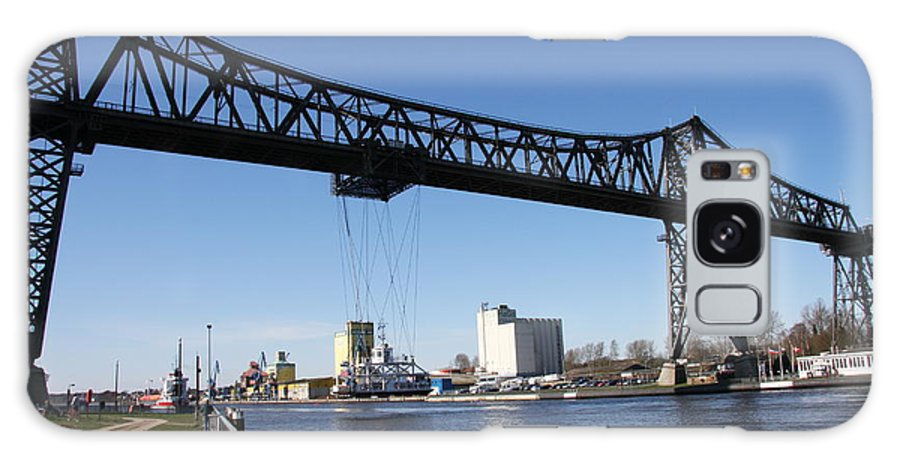 Bridge Galaxy S8 Case featuring the photograph Transporter Brigde - Schwebefaehre Rendsburg by Christiane Schulze Art And Photography
