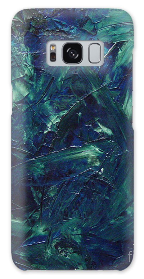 Abstract Galaxy Case featuring the painting Transtions Xi by Dean Triolo