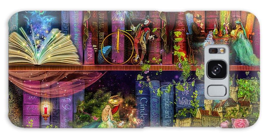 Fairytale Galaxy S8 Case featuring the digital art Fairytake Treasure Hunt Book Shelf Variant 4 by Aimee Stewart