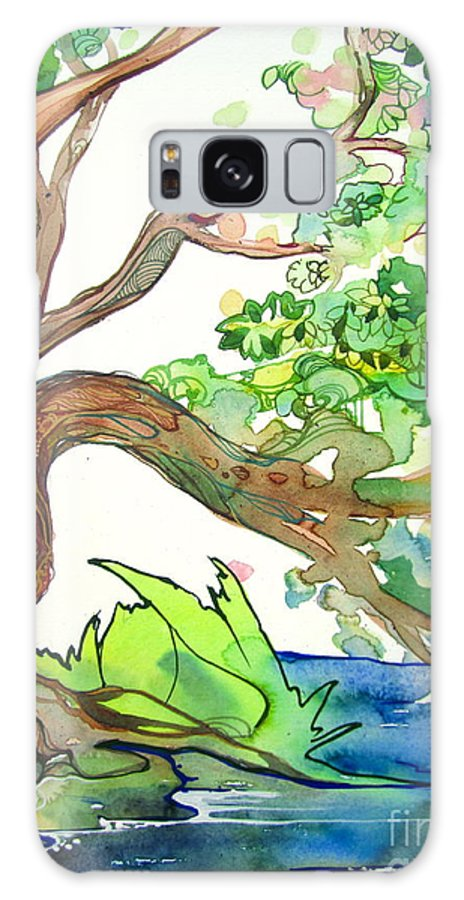 Tree Galaxy S8 Case featuring the painting Tree by Maya Simonson