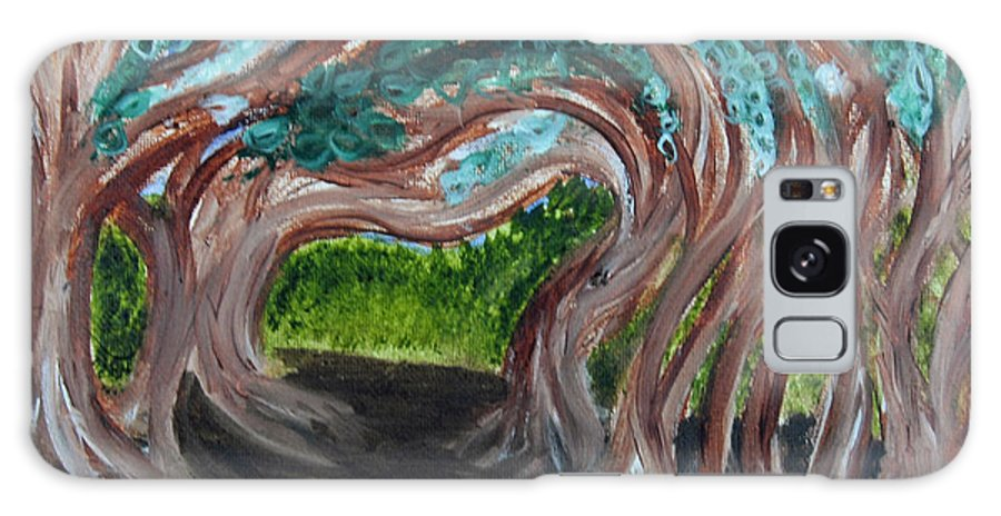 Dirt Path Galaxy S8 Case featuring the painting Tree Tunnel by Suzanne Surber