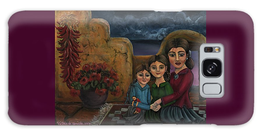 Mom Galaxy S8 Case featuring the painting Tres Mujeres Three Women by Victoria De Almeida