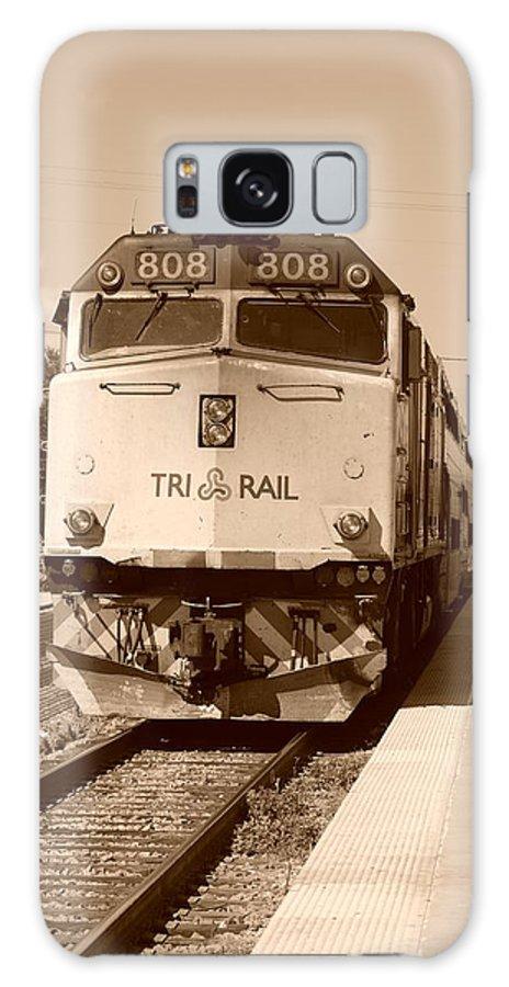 Train Galaxy S8 Case featuring the photograph Tri Rail 808 by Rob Hans