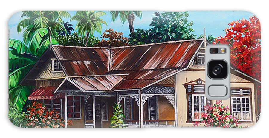 House Galaxy Case featuring the painting Trinidad House no 1 by Karin Dawn Kelshall- Best